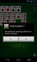 Solitare Champion HD - Auto complete