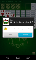 Solitare Champion HD - Congrats