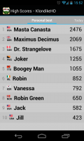 Solitare Champion HD - Leader board