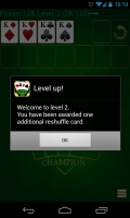 Solitare Champion HD - Level up