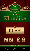 Solitare Champion HD - Main menu