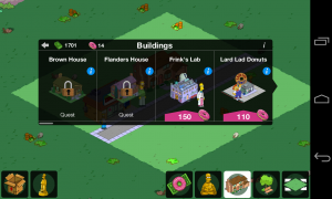 The Simpsons Tapped Out - New buildings are unlocked with progress