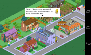 The Simpsons Tapped Out - The game even lets you harvest cash from an alternative Springfield