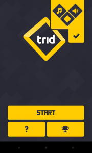 Trid - Settings menu