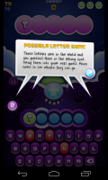 Wordsplosion - Possible letter bank
