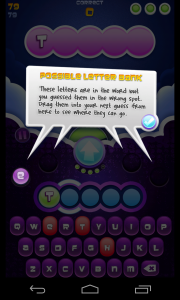 Wordsplosion - Possible letter bank