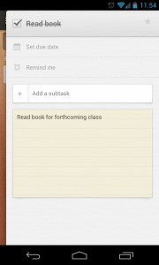 Wunderlist 2 - View task, complete, add note