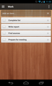 Wunderlist 2 - Work list