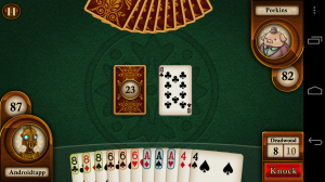 Aces Gin Rummy Knock Hand