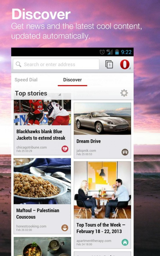 Opera browser beta available on Google Play
