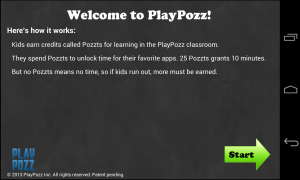 PlayPozz - Welcome screen