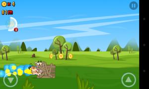 Run Cow Run - Crash through obstacles when on boost