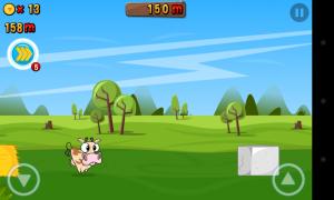 Run Cow Run - On screen controls