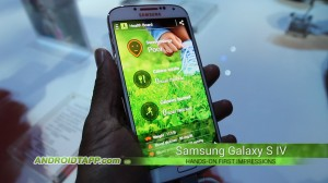 Samsung Galaxy S4 Hands-on - S Health
