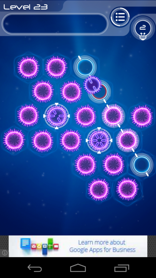 Sporos – neon no pressure puzzler, simple but quite challenging