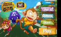 Super Monkey Run - Menu