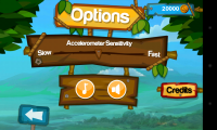 Super Monkey Run - Options