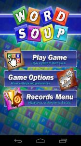 Word Soup Start Screen