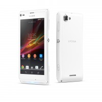Xperia L - Front and Back - White