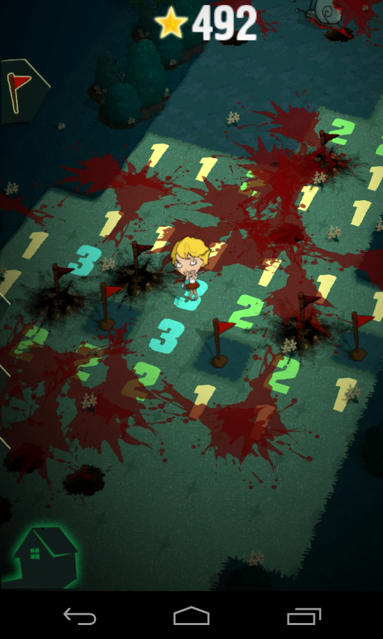 Zombie Minesweeper – what you get when you mix a little girl with shotgun, zombies and landmines!