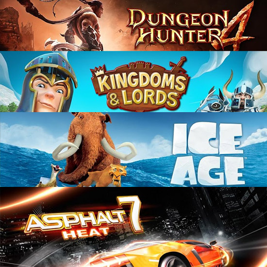 13 Gameloft games optimized for Samsung Galaxy S4