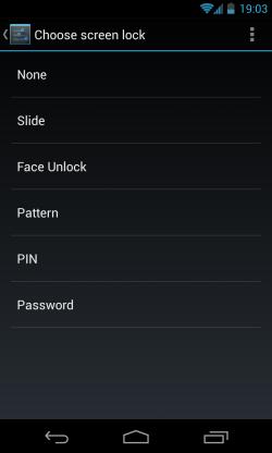 Choose screen lock screen