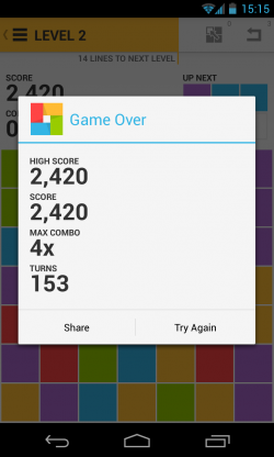 7x7 - Game over