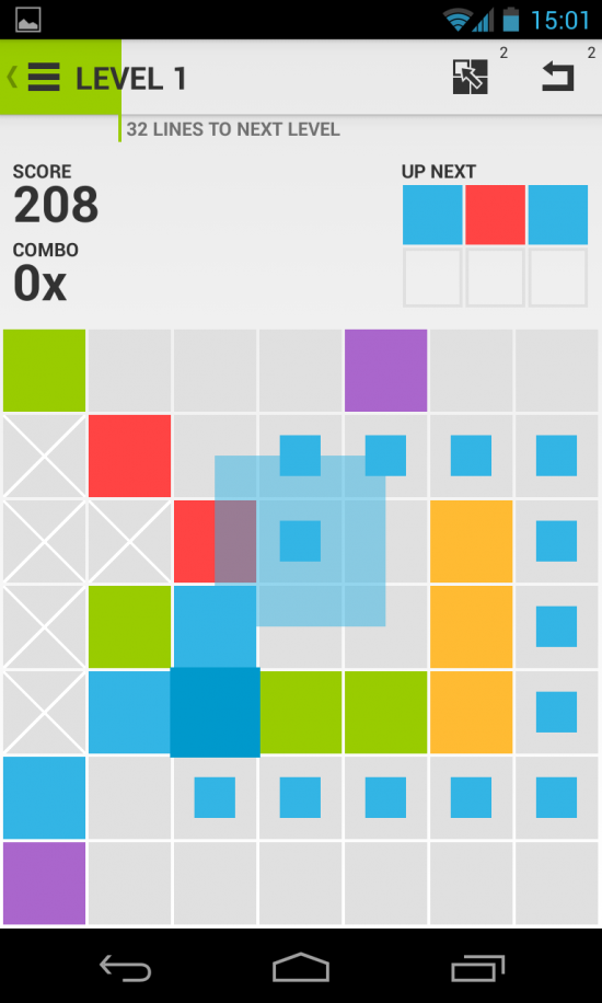 7×7 – play this challenging combo of Connect Four meets Tetris!