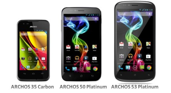 ARCHOS launches 3 Android-powered smartphones from budget phone to phablet