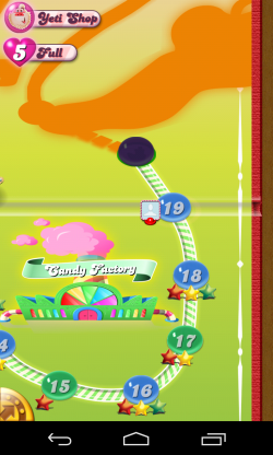 Candy Crush Saga - Level progress