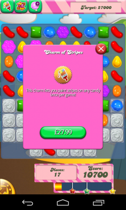 Candy Crush Saga - Optional in-app pourchases are extortionate