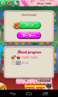 Candy Crush Saga - Out of moves fail