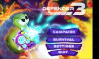 Defender 3 - Menu