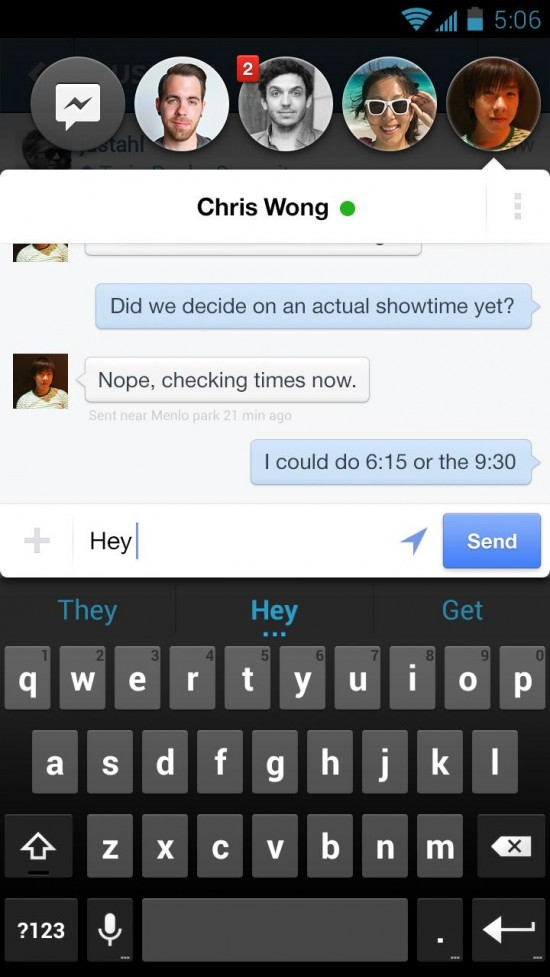 Facebook Chat Heads (Messenger update) available in Google Play