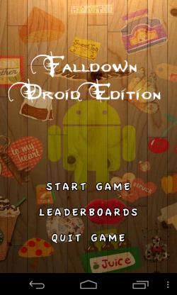 Falldown Droid Edition - Menu