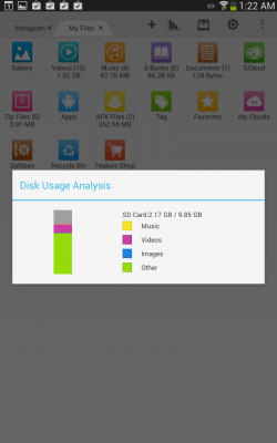 File Expert HD with Clouds - Disk Usage