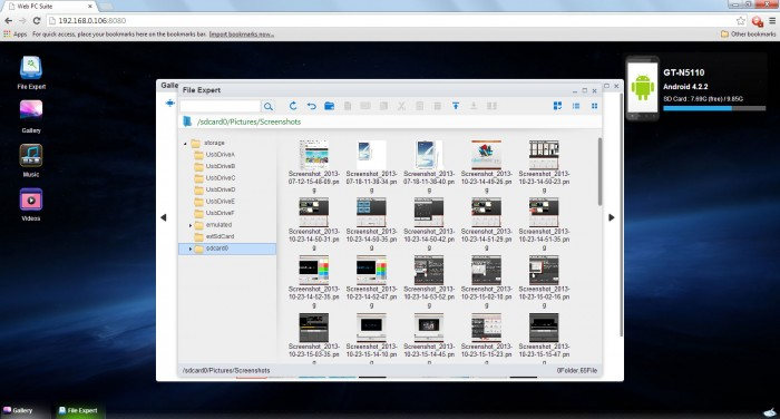 File Expert HD with Clouds - Web Suite on Desktop