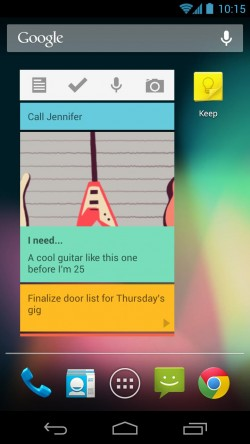 Google Keep – Home Screen Widget