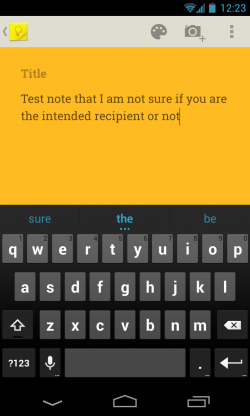 Google Keep - Simple note