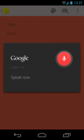 Google Keep - Voice input