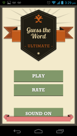 Guess the Word Ultimate - Start Screen