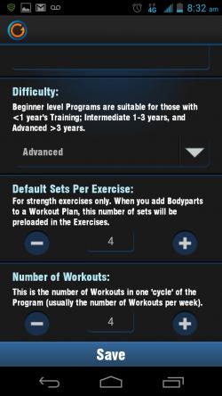Gymprovise Gym Workout Tracker Add New Program