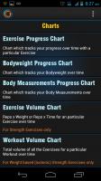 Gymprovise Gym Workout Tracker Charts