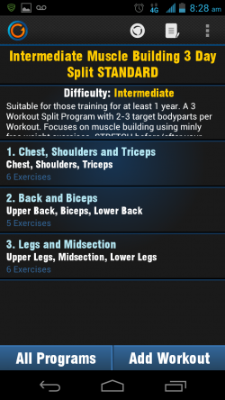 Gymprovise Gym Workout Tracker Exercise Details
