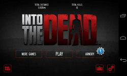 Into the Dead - Menu