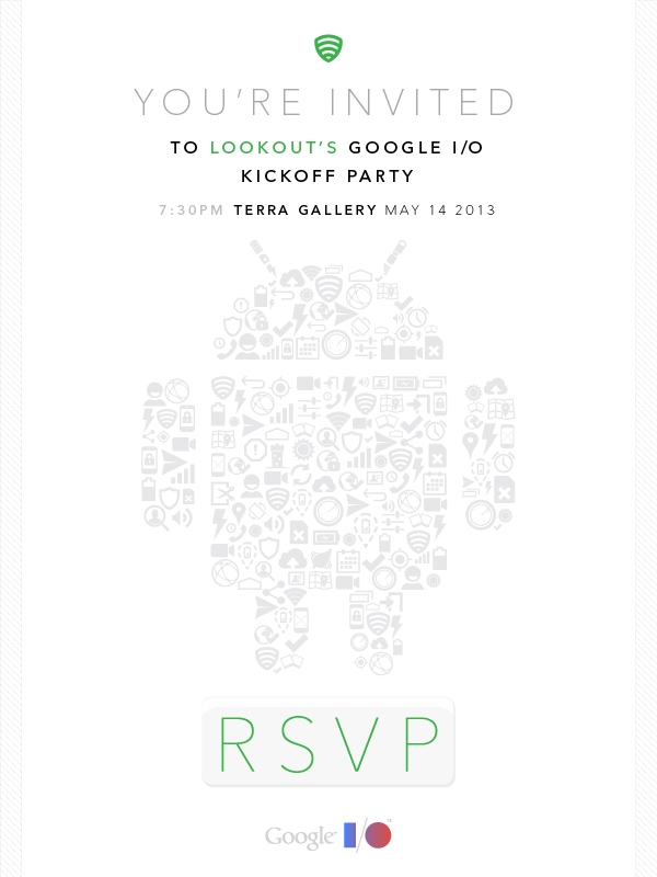 Win a Chance to Party with Us & Lookout at Google I/O (Giveaway)