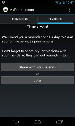 MyPermissions - Reminders
