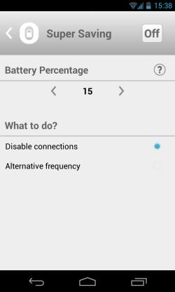 Optimus Battery Saver - Super saving