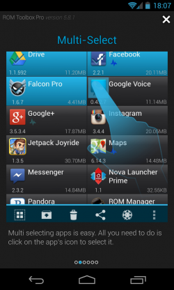 ROM Toolbox Pro - Multi select