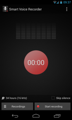 Smart Voice Recorder - Main recording interface